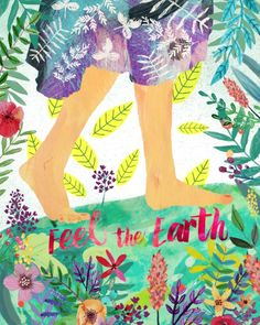 feel the earth mia charro illustration Illustration Noel, Photo D Art, Nature Quotes, Mother Nature, Graffiti, Artsy, Art Prints, Feelings, Drawings