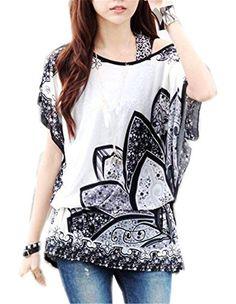 JSDY Womens Retro Flower Lotus Printed Bohemia Bat Sleeve Blouse Tee Shirt Top JSDY-Cloth http://www.amazon.com/dp/B00L8RE2F8/ref=cm_sw_r_pi_dp_qBk5wb12TYFN1