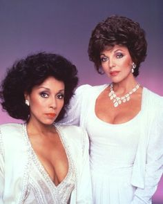 Dianne Carroll and Joan Collins from the days of Dynasty.