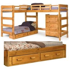 Triple bunk beds for kids room definitely a great approach in term of space saving for those families have more children in household and stay...