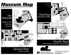 Floor plans for the museum.