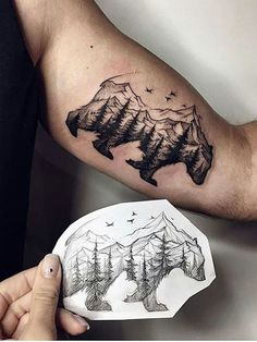 If you're looking to get more ink or want to work your way towards a sleeve, here's the best arm tattoos for men that is sure to impress. ideas for men 55 Best Arm Tattoo Ideas for Men Cool Tattoos, Tribal Tattoos, Hawaiian Tattoo, Tattoos, Tattoos For Women, Bear Tattoos, Cool Arm Tattoos, Forest Tattoos, Tattoo Designs