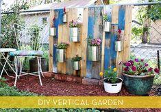 How ro Make A Vertical Garden From Reclaimed Wood: credit: Rachel Denbow [http://www.abeautifulmess.com/2012/07/pallet-vertical-garden.html]