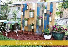 How ro Make A Vertical Garden From Reclaimed Wood: credit: Rachel Denbow [http://www.abeautifulmess.com/2012/07/pallet-vertical-garden.html]