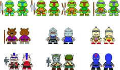 AJA! junio de TMNT Blind Bag Mini Figures - TMNT KIDROBOT!!!