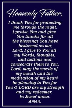 Pray This Powerful Prayer for Blessings Every Morning Pray This Powerful Prayer for Blessings Every Morning Prayer Scriptures, Bible Prayers, Catholic Prayers, Faith Prayer, God Prayer, Power Of Prayer, Prayer Quotes, Prayer Cards, Bible Verses