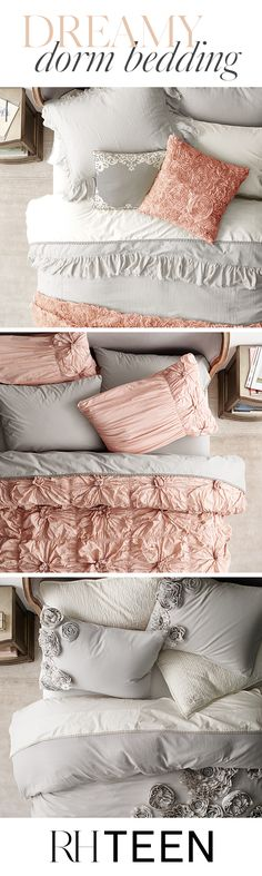 Set the scene for beauty sleep in your home away from home with bedding that features soft textures and a calming color palette. Enjoy free shipping on all bedding at RH TEEN.