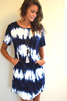 Navy Tye Dye Dress. | Find More at => http://feedproxy.google.com/~r/amazingoutfits/~3/hVeY0XwLHqo/AmazingOutfits.page