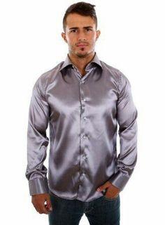 Satin Shirt, Satin Top, Fashion Group, Men Casual, Menswear, Mens Fashion, Shirt Dress, Mens Tops, How To Wear