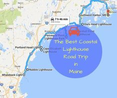 Check out this lovely journey up the coast to see what gives Maine it's special flavor, and experience the best lighthouse road trip in Maine. Maine Lighthouses Map, East Coast Lighthouses, East Coast Travel, East Coast Road Trip, Maine Road Trip, Road Trip Hacks, Road Trips, New England States, Travel Usa