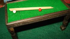 Antique-vintage-dolls-house-snooker-table-and-cover-PIT-A-PAT