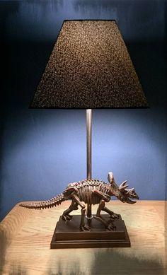 Steampunk dinosaur relic lamp. Vintage by LuminosityDesignsUK