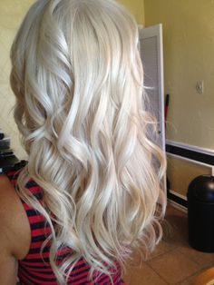 Love this color!  Just add some darker blonde lowlights and it's perfect!  Love the curl too!