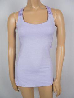 LULULEMON Twisted Tank 4 S Bra Shelf Support Lilac Purple Shirt Pilates Top