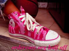 Pink converse! I confess, I have these...I've been in love with converse since high school :)     Fashion pink #converses #sneakers summer 2014