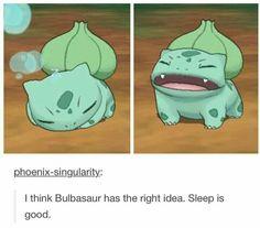 Sleep is good.- Bulbasaur