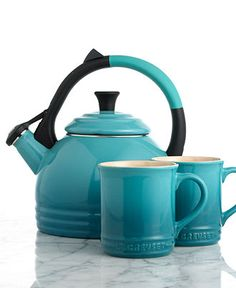 Le Creuset Kettle and Mug Set, 2 Piece - Cookware Sets - Kitchen - Macy's  I want one! #macysdreamregistry