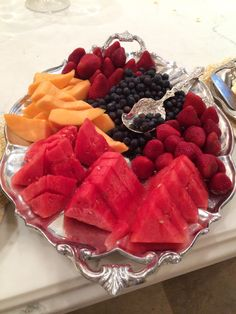 Summer Entertaining...always a tray of fresh fruit. | The Enchanted Home