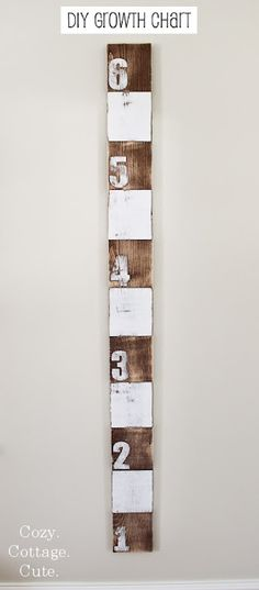 Great tutorial for a DIY growth chart