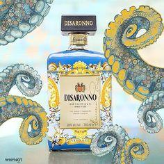 When Octopus meets Disaronno! @disaronno_official @versace_official