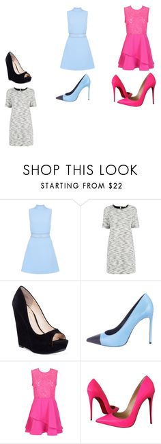 """Untitled #30"" by chinesharris on Polyvore featuring New Look, Oasis, Jessica Simpson, Yves Saint Laurent and Christian Louboutin"