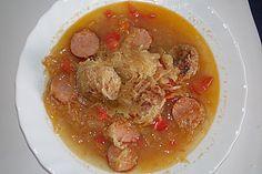 Herzhafte Hack - Sauerkraut - Suppe, ein tolles Rezept aus der Kategorie Eintopf. Bewertungen: 13. Durchschnitt: Ø 3,9.