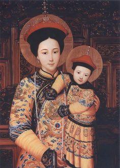 Chu Kar Kui — Holy Mary, Empress of China,1990's (722X1014)