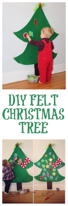 DIY Felt Christmas Tree Step-By-Step Tutorial - provides hours entertainment for kiddos!
