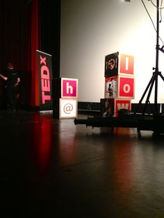 MeaghanCKehoe. Stage-designing for TEDx Youth@Waterloo 2013.