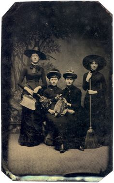 Witches- c.1875 - Oh Angelique, what a day we had, I remember when we had this picture taken of us.  You have not changed a bit!!!!!