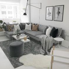 Living Room Grey, Living Area, Living Room Decor, Home Reno, Diy Room Decor, Interior Inspiration, Ikea, New Homes, Lounge