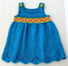 Absolute Knits by Angela Juergens--Angela Juergens--Zoe's Dress (approx. age 3)