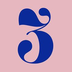 Number three ♥ by Typography Love, Typography Inspiration, Typography Letters, Graphic Design Typography, Lettering Design, Graphic Design Inspiration, Number Typography, Number Fonts, Web Design