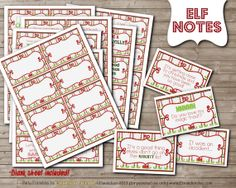 PRINTABLE Little Magic Elf on the Shelf ANTICS & Notes by DandeAve, $5.00