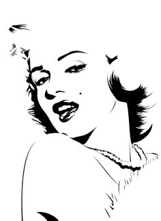 Here's my first submission of my marilyn monroe vector-style drawing (maybe my only if you like it! you may notice that i didn't finish her hair and i. Marilyn Monroe Dibujo, Marilyn Monroe Stencil, Marilyn Monroe Drawing, Marilyn Monroe Artwork, Stag Tattoo, Dark Art Drawings, Deco Originale, Illusion Art, Stencil Art
