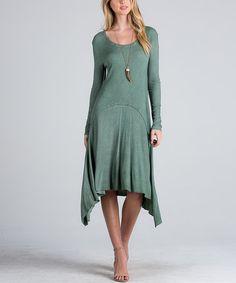 Another great find on #zulily! Warm Wood Sidetail Midi Dress #zulilyfinds