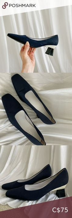 Escada Heels 🖤 navy blue - Size 38.5 Reposhing this item I purchased from @prospectrunway. Loved it, but ready to rotate for something new.  Navy blue & white accented heel  Great condition for continued wear!  Questions? Leave a comment below! Escada Shoes Heels Navy Blue, Blue And White, Plus Fashion, Fashion Tips, Fashion Trends, Shoes Heels, This Or That Questions, Best Deals, How To Wear