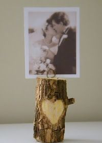 Carved heart photo holder. But with an old camp photo.