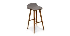 Sede Thunder Gray Walnut Bar Stool - Stools - Article | Modern, Mid-Century and Scandinavian Furniture