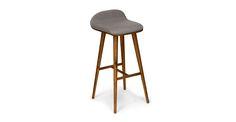 Sede Thunder Gray Walnut Bar Stool - Stools - Article | Modern, Mid-Century and Scandinavian Furniture