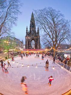 Ice skating - Edinburgh, Scotland. Our tips for things to do in Edinburgh: http://www.europealacarte.co.uk/blog/2011/12/19/edinburgh-tips