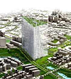 Image 1 of 11 from gallery of Taiwan Tower First Prize Winning Proposal / Sou Fujimoto Architects. Courtesy of Sou Fujimoto Architects Sou Fujimoto, Japanese Architecture, Interior Architecture, Unique Architecture, Futuristic Architecture, Public Architecture, Futuristic Design, Classical Architecture, Landscape Architecture