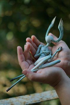 Drea Ming - art doll sculpt ooak creature blue dream freak ...