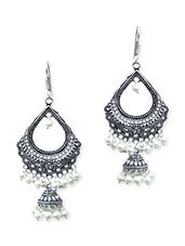 white brass chandballi - Online Shopping for Earrings