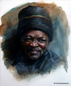 Eduard By Elize Bezuidenhout Oil on Canvas Art Images, Oil On Canvas, My Arts, Portraits, Artist, Painting, Design, African, Art Pictures