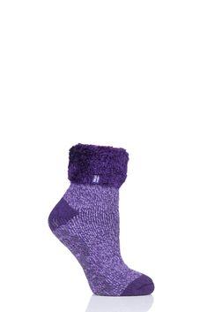 Ladies 1 Pair Heat Holders Annabelle Lounge Socks from SOCKSHOP Bed Socks, Ribbon Wrap, Sock Shop, Slipper Socks, Stocking Fillers, Bed Styling, Womens Slippers, Ankle Length, Stockings