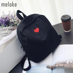 5933818908c8 21% СКИДКА|Meloke 2019 Модные женские холщовые рюкзаки с милой вышивкой, дорожные  рюкзаки для девочек, школьные сумки для подростков MN553 купить на ...