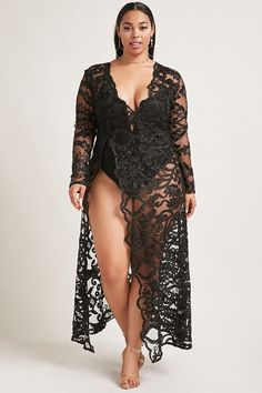 Plus Size Embroidered Dress Big Girl Lingerie, Lingerie Outfits, Plus Size Lingerie, Curvy Outfits, Plus Size Outfits, Fashion Outfits, Curvy Women Fashion, Plus Size Fashion, Plus Size Sequin Jumpsuit
