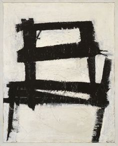 Franz Kline -The Chair (1950). Strong image, high contrast. Looks so simple, anyone could do it, right? Nope.