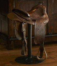 Horse saddle bar stools!!!